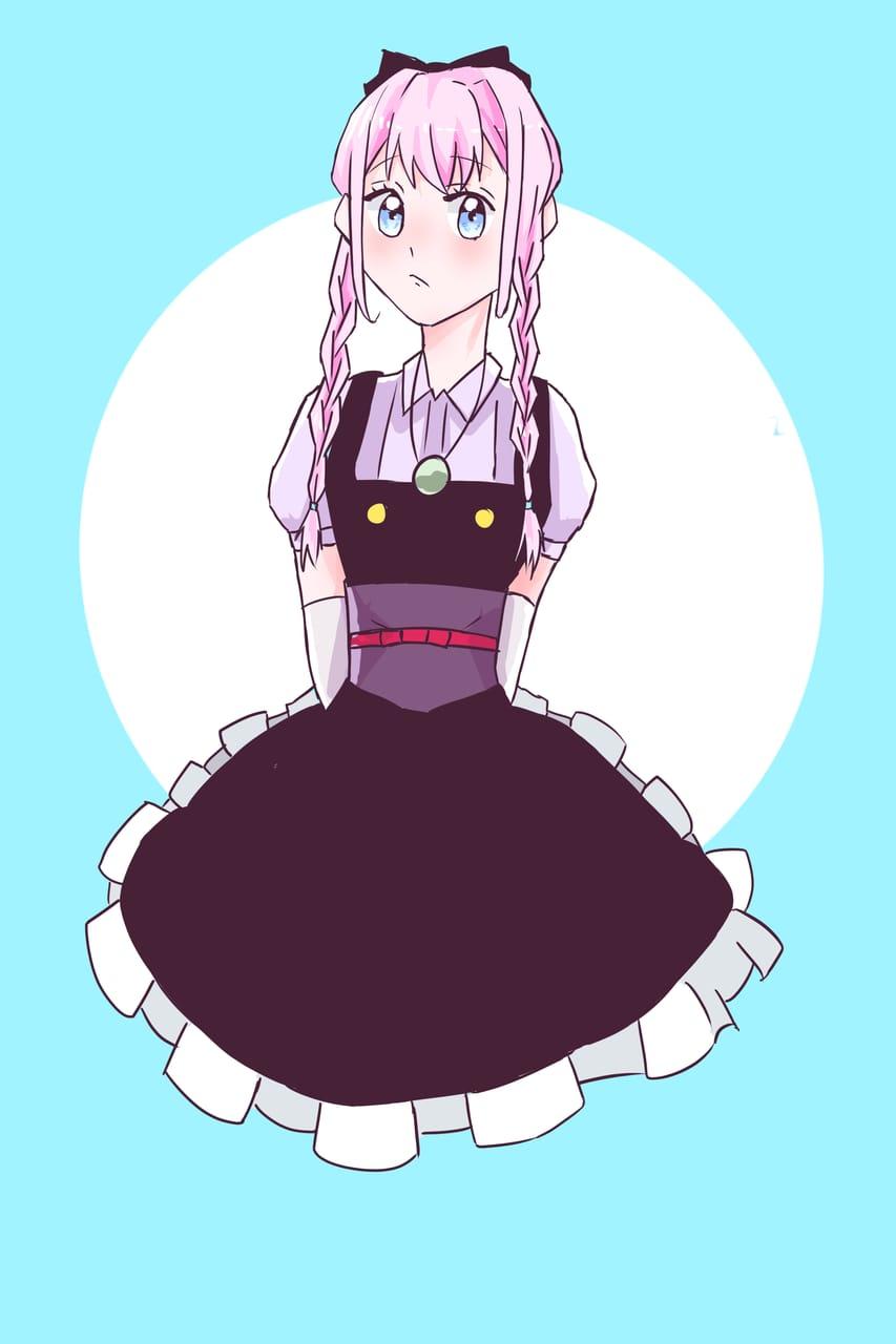 無題 Illust of おみそ#田舎同盟 CLIPSTUDIOPAINT Personification 三つ編み illustration girl pink