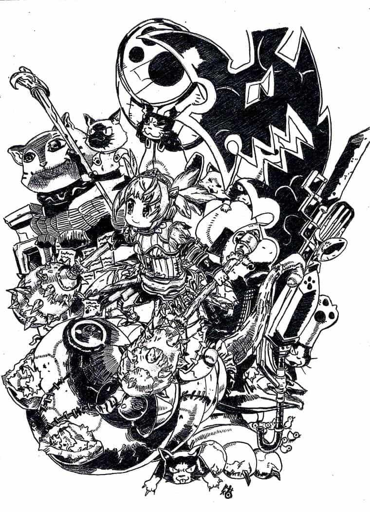 Monster hunter black and white