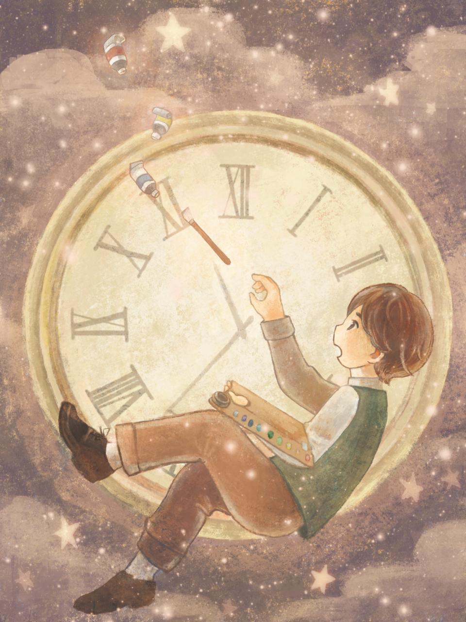 時計の少年。 Illust of ぱこすけ GOMABOOKS_Contest