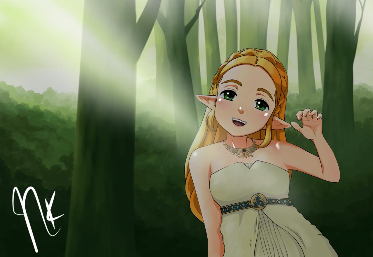 Zelda Illust of NeokVG Zelda the Wild of Breath