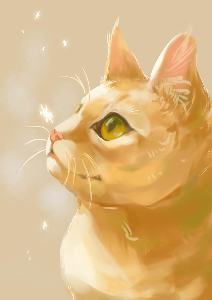 雪ひとひら Illust of 砂虫隼 生き物 animal winter original cat ゆき medibangpaint