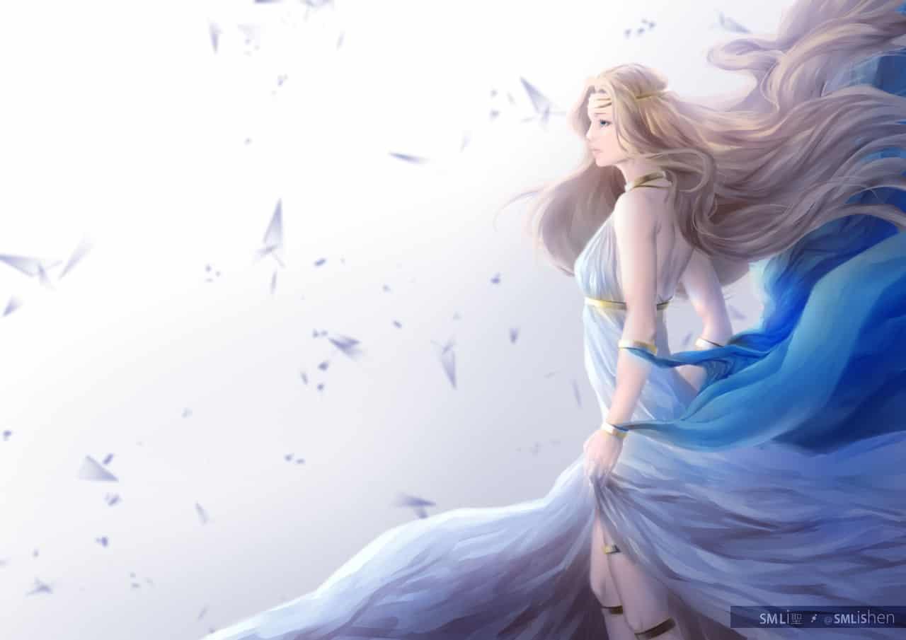 Empress Cygnus Illust of SMLiShen mmorpg blonde empress MapleStory gaming game cygnus queen videogame
