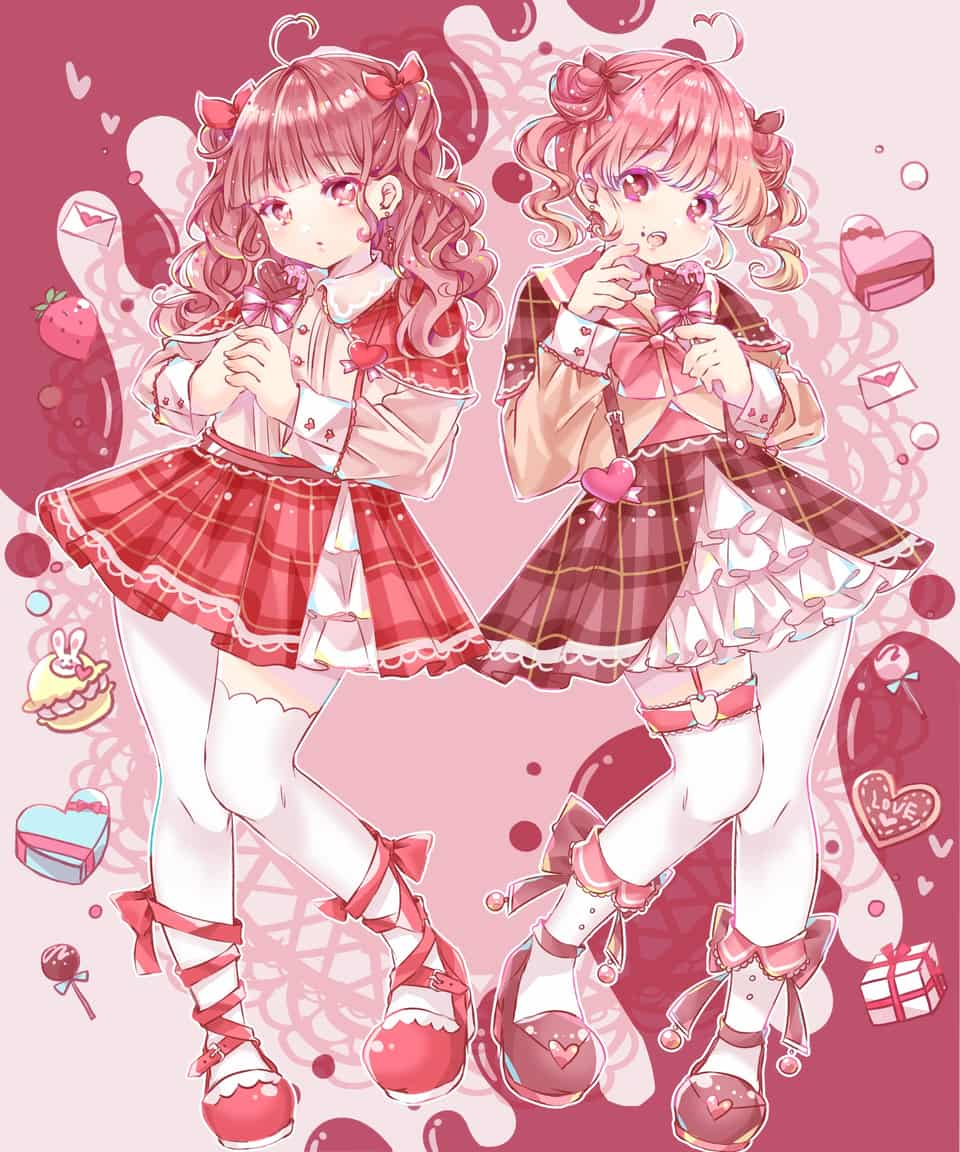 HappyValentine! Illust of 知花そら Feb2020:VDAY girl medibangpaint