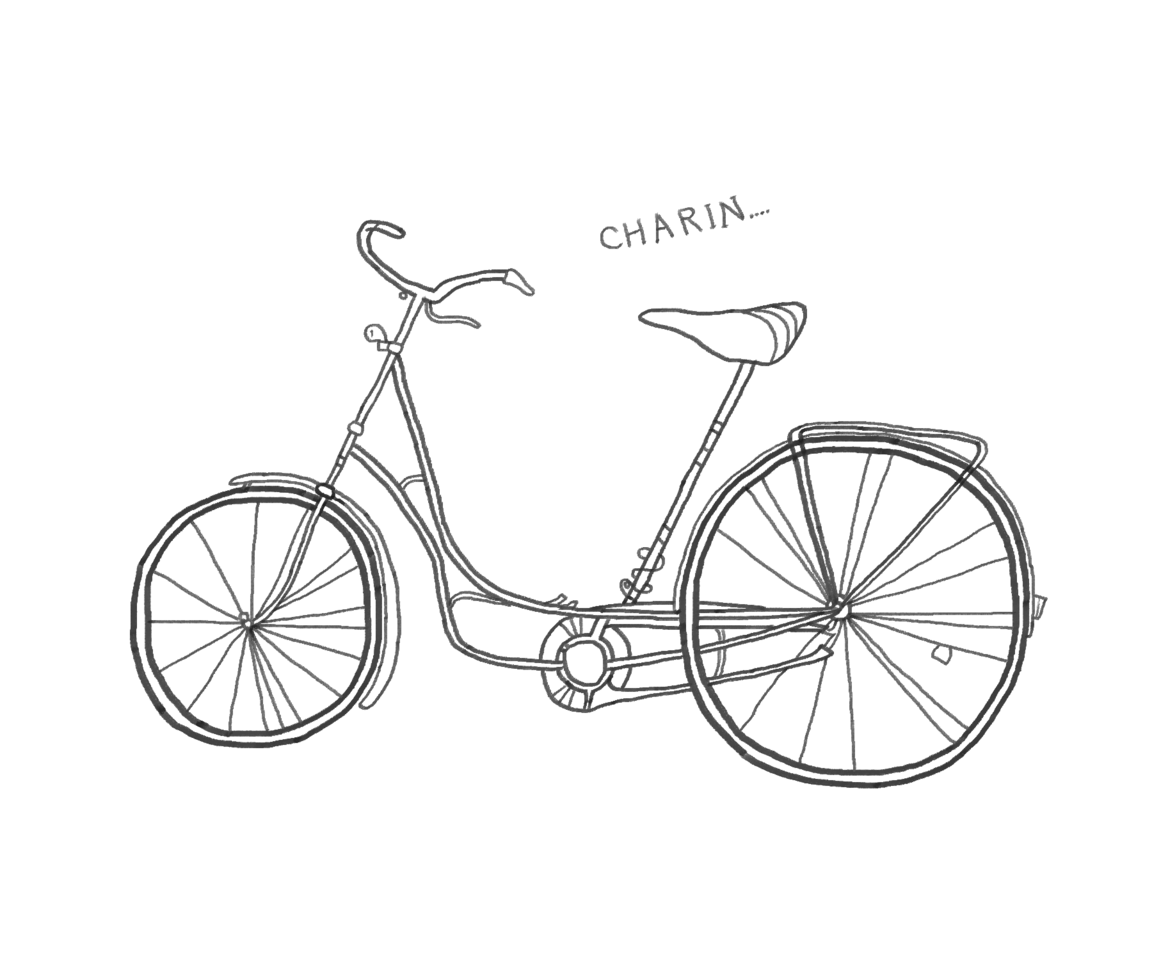 自転車 Illust of 八神 奏 Digital_Fireworks black レトロ 花火 original bike