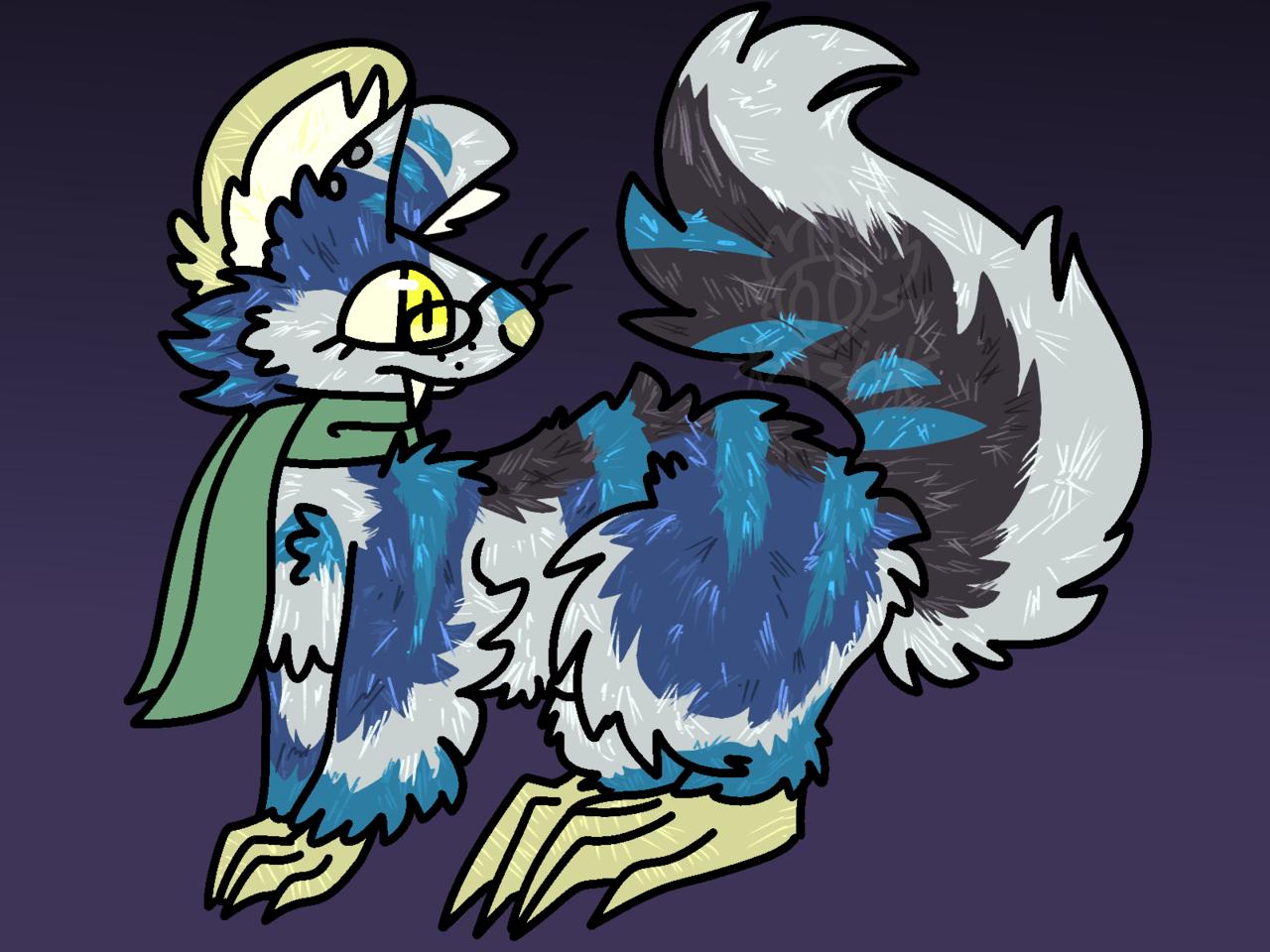 random redraw Illust of 🍂Ash🍂 medibangpaint animal rat creature digital cute furry? redraw oc