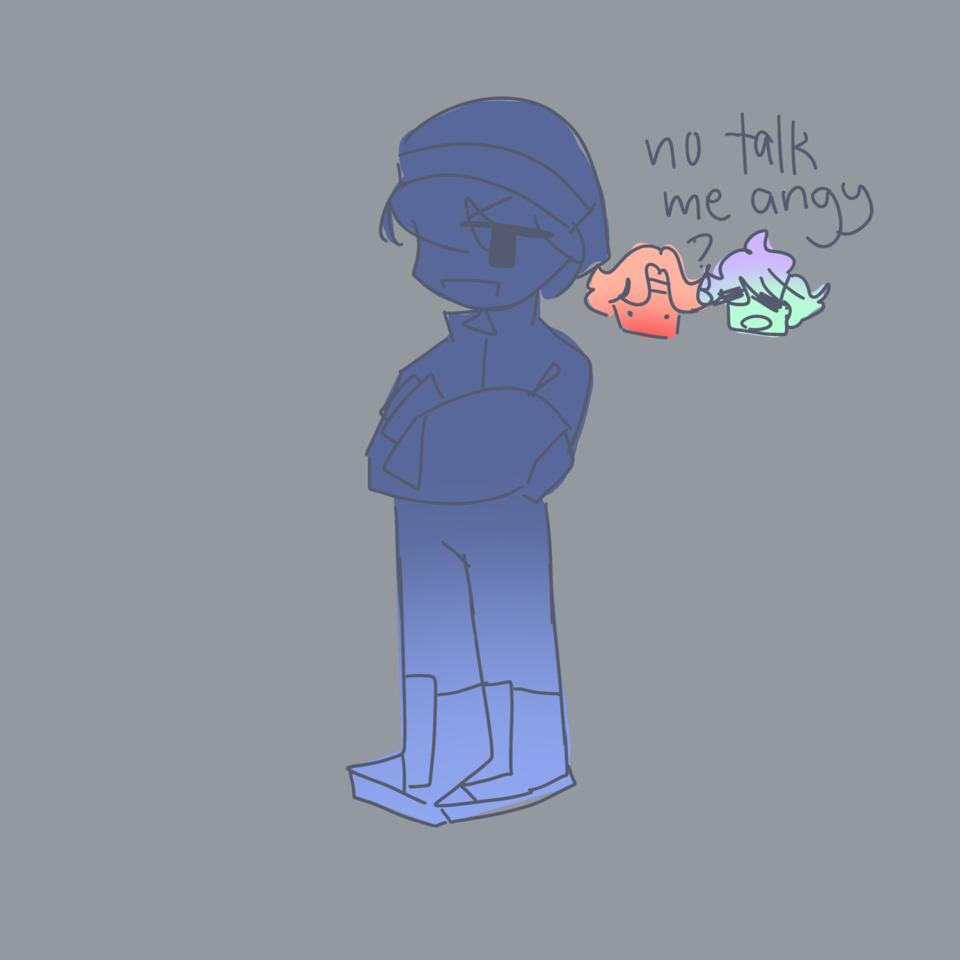 No talk me angy Illust of DreamiiKuri | Drèam mode©️ drawing friend