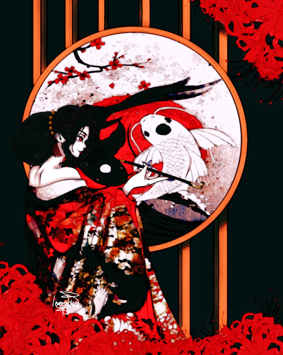 King of demons Illust of Linogatawa horror August2020_Contest:Horror monthlyIlustration demon kingofdemons KibutsujiMuzan KimetsunoYaiba contest agustTheme artstreet