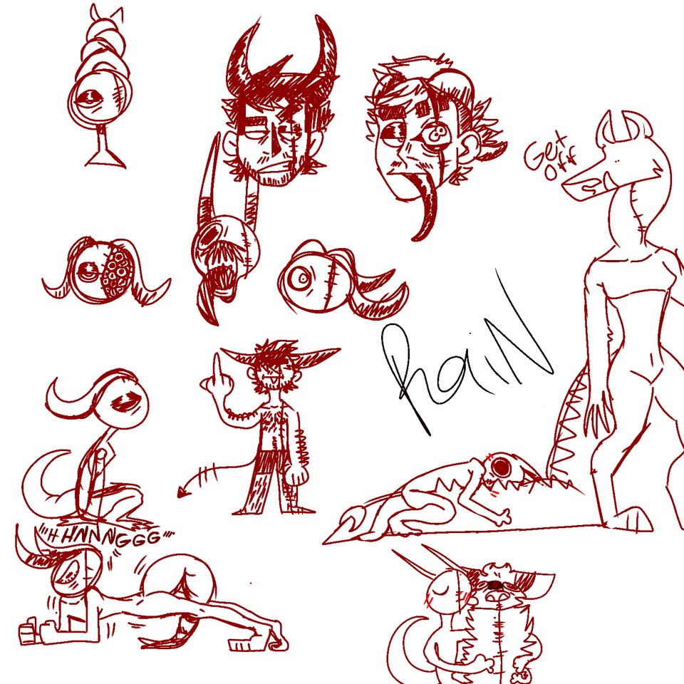Headstress sketches Illust of Big Yeen shapeshifter demon hyena medibangpaint spottedhyena