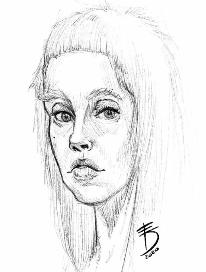 Portrait  Illust of Derwelt medibangpaint iPad_raffle drawing Artwork artist medibang sketch Drawings Medibang portrait