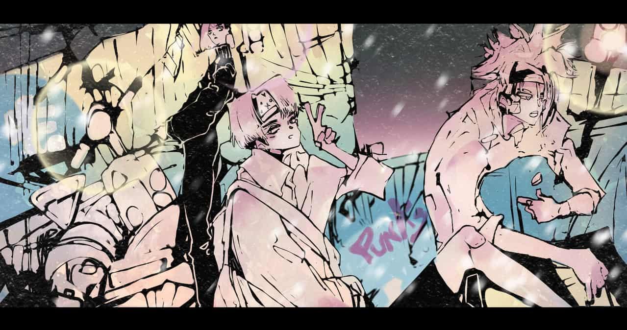 【 Night Punks 】 Illust of Jojodoboro night illustration oc punk originalart