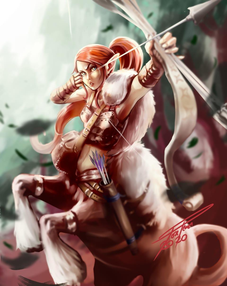centauro ranger Illust of José Pérez fantasy January2021_Contest:OC digital girl oc Centaur