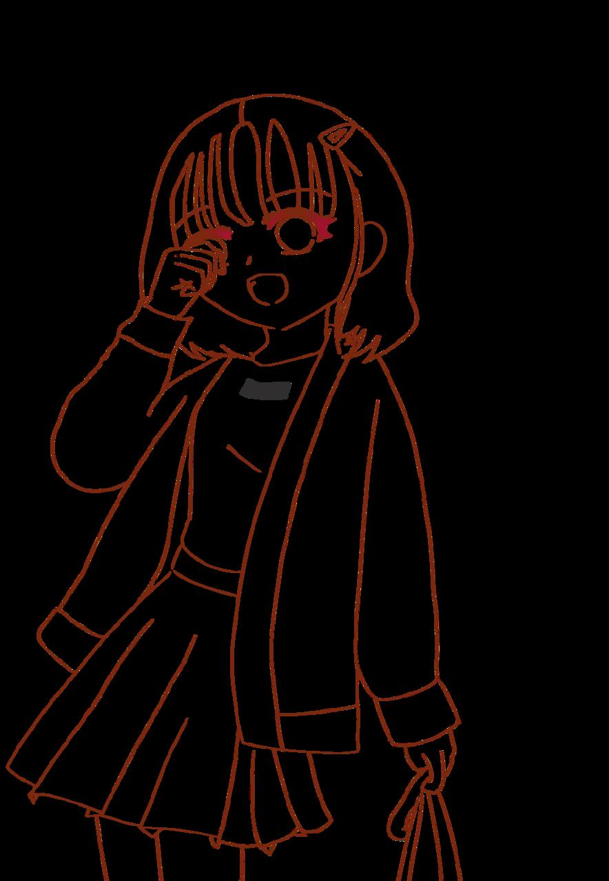 Latte girl Illust of れもん#お味噌汁崇拝 digital girl れもん🎀 kawaii line_art ラテ れもん