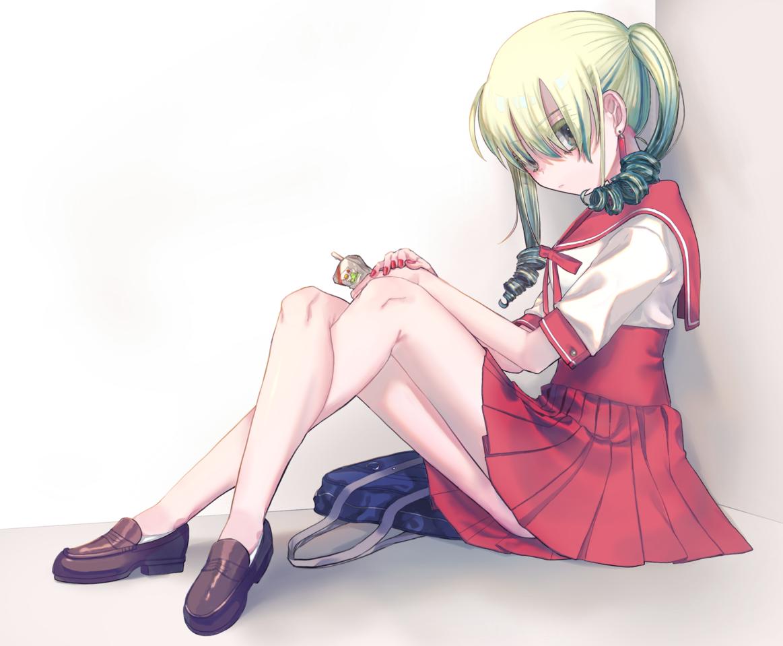 f Illust of suyari girl sailor_uniform