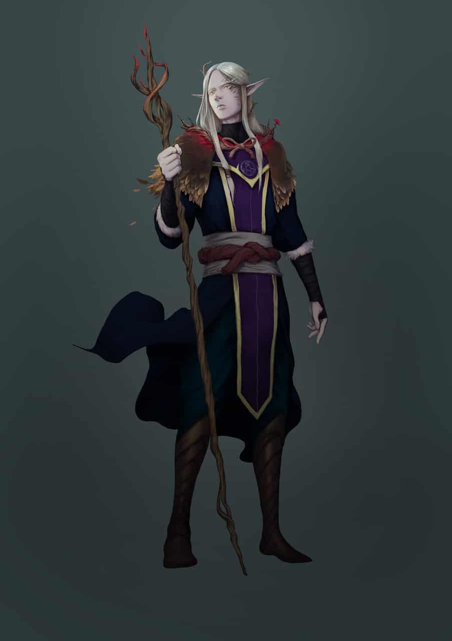 eldrian elf Illust of sandkuwng elf illustration character