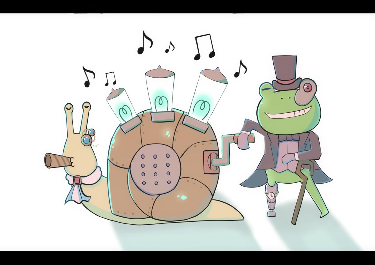 Mr.かえるとカタツムリのすねみん Illust of あられとこゆき January2021_Contest:OC steampunk illustration oc original kawaii