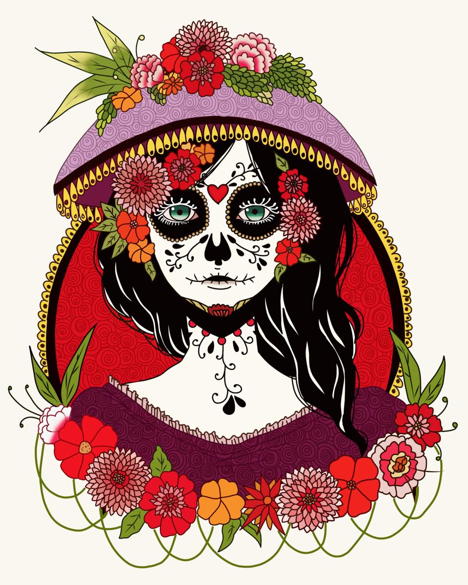 LA CATRINA Illust of Minswee brag.your.country mexico tradiciones Concurso costumbres