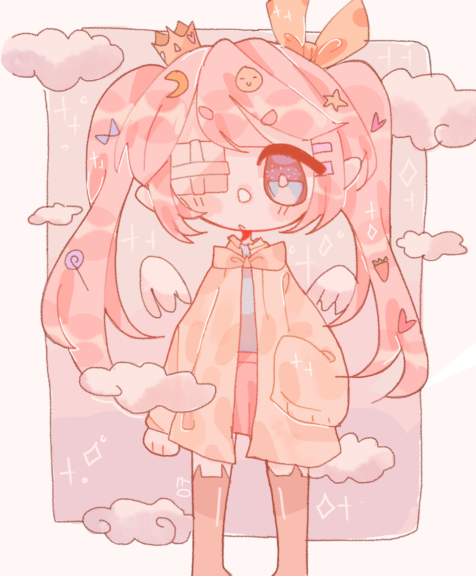 ✨💕 Illust of pErSon medibangpaint chibi girl Soft oc cute original aesthetic
