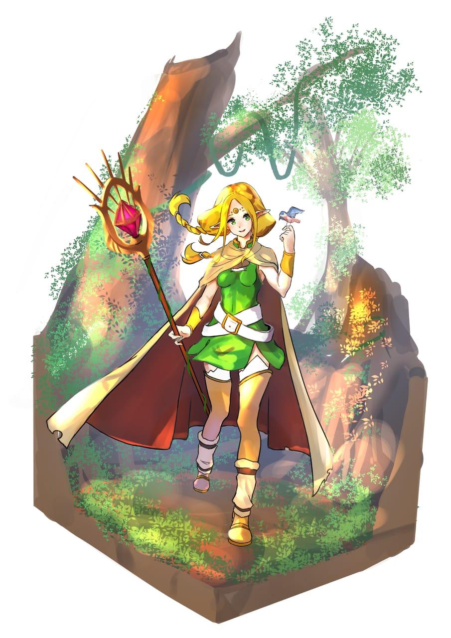 エルフ Illust of 丸リュー January2021_Contest:OC girl elf