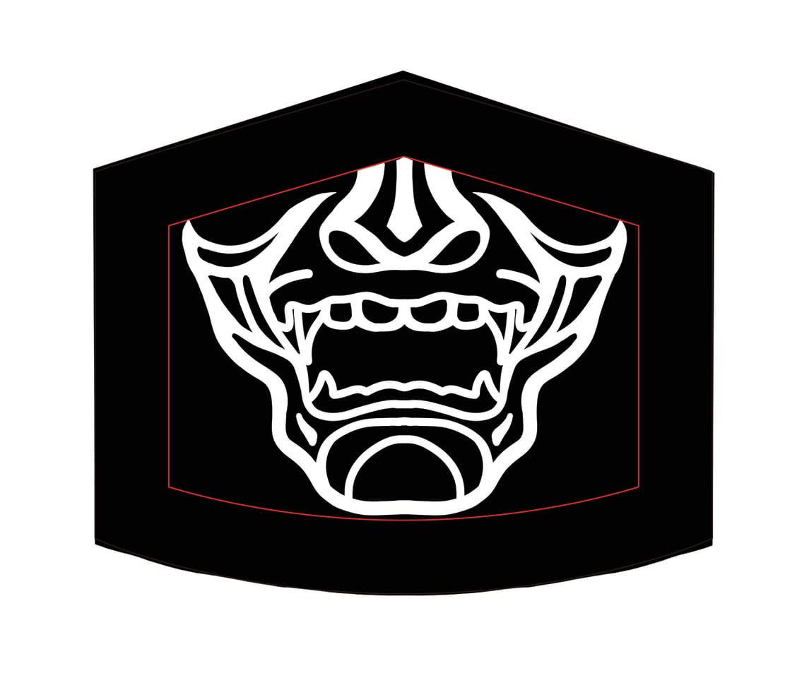Samuari Mask Illust of Daniel_N MaskDesignContest villain mask Scary maskcompetition samurai