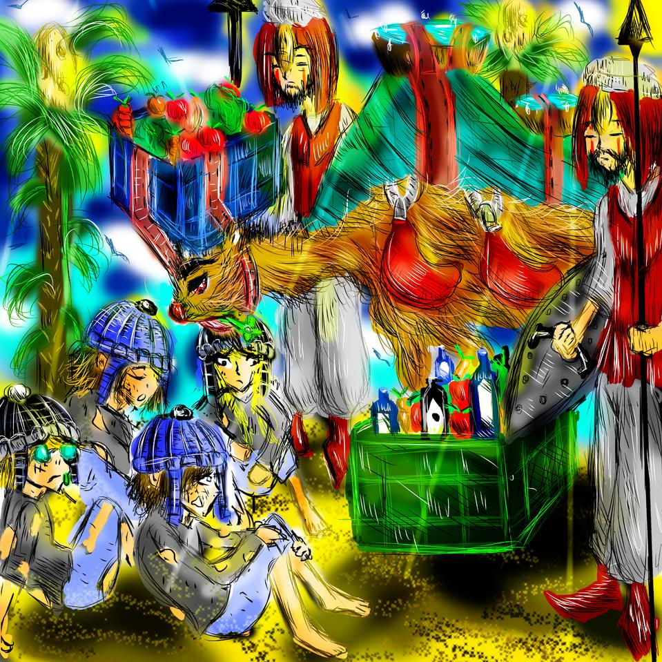 The generous camel Illust of AcP February2021_Fantasy
