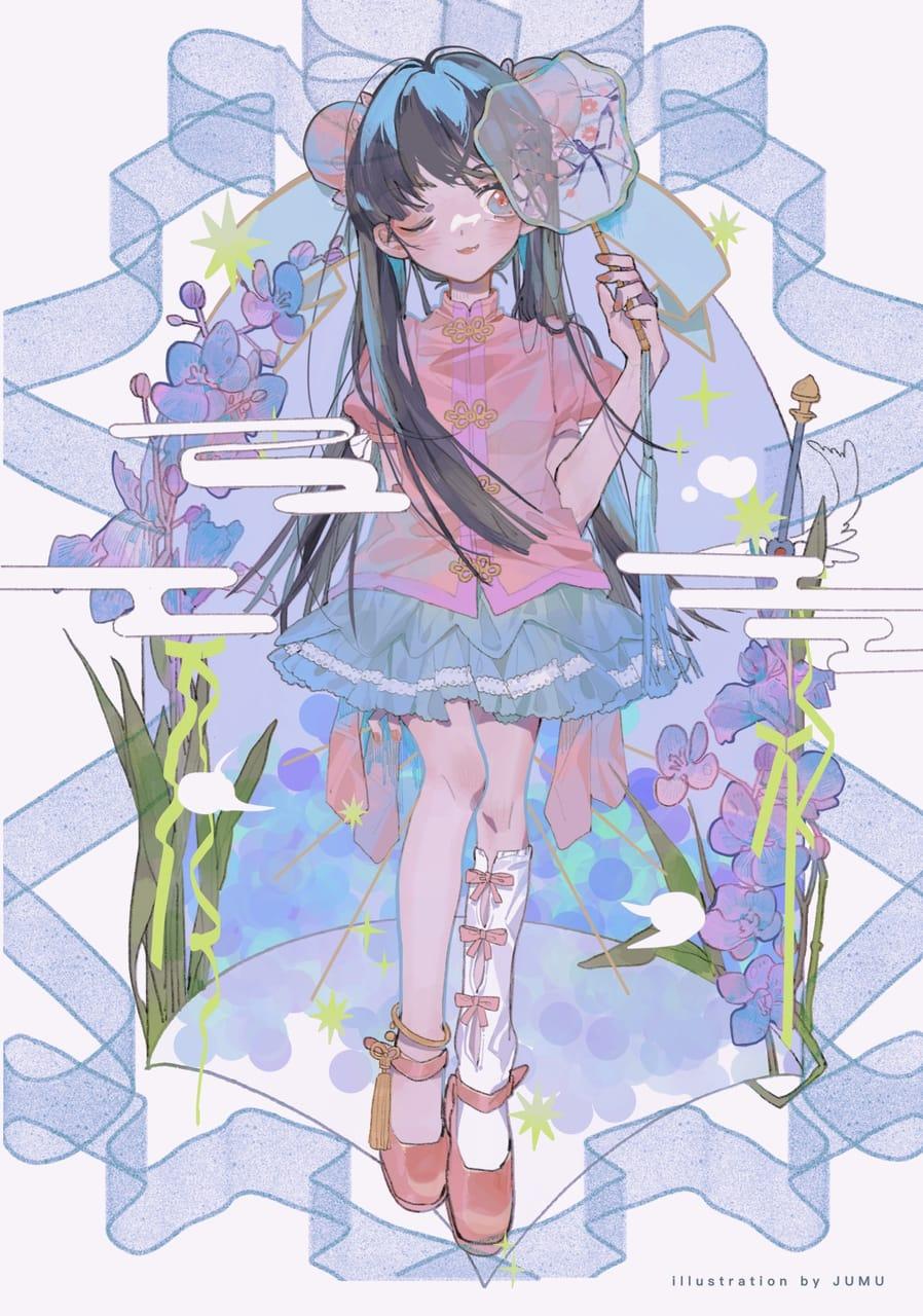 烟花三月 Illust of 九木口冬 April2021_Flower illustration girl 汉服 original 立ち絵 中国风