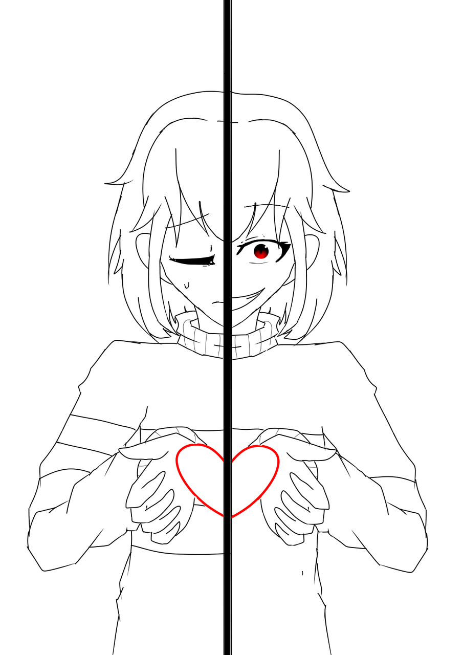 Line art firsk and chara