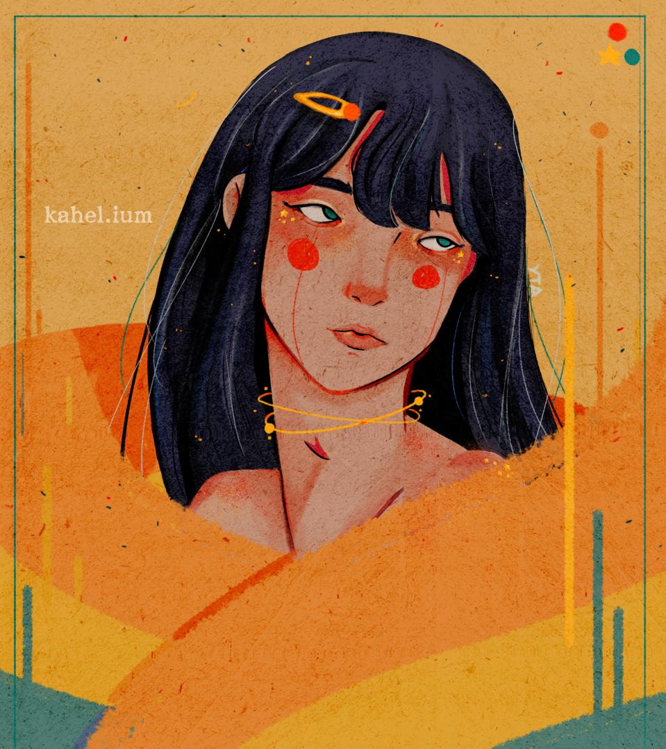Pretty Portrait Illust of Kahelium iPad_raffle medibangpaint portrait