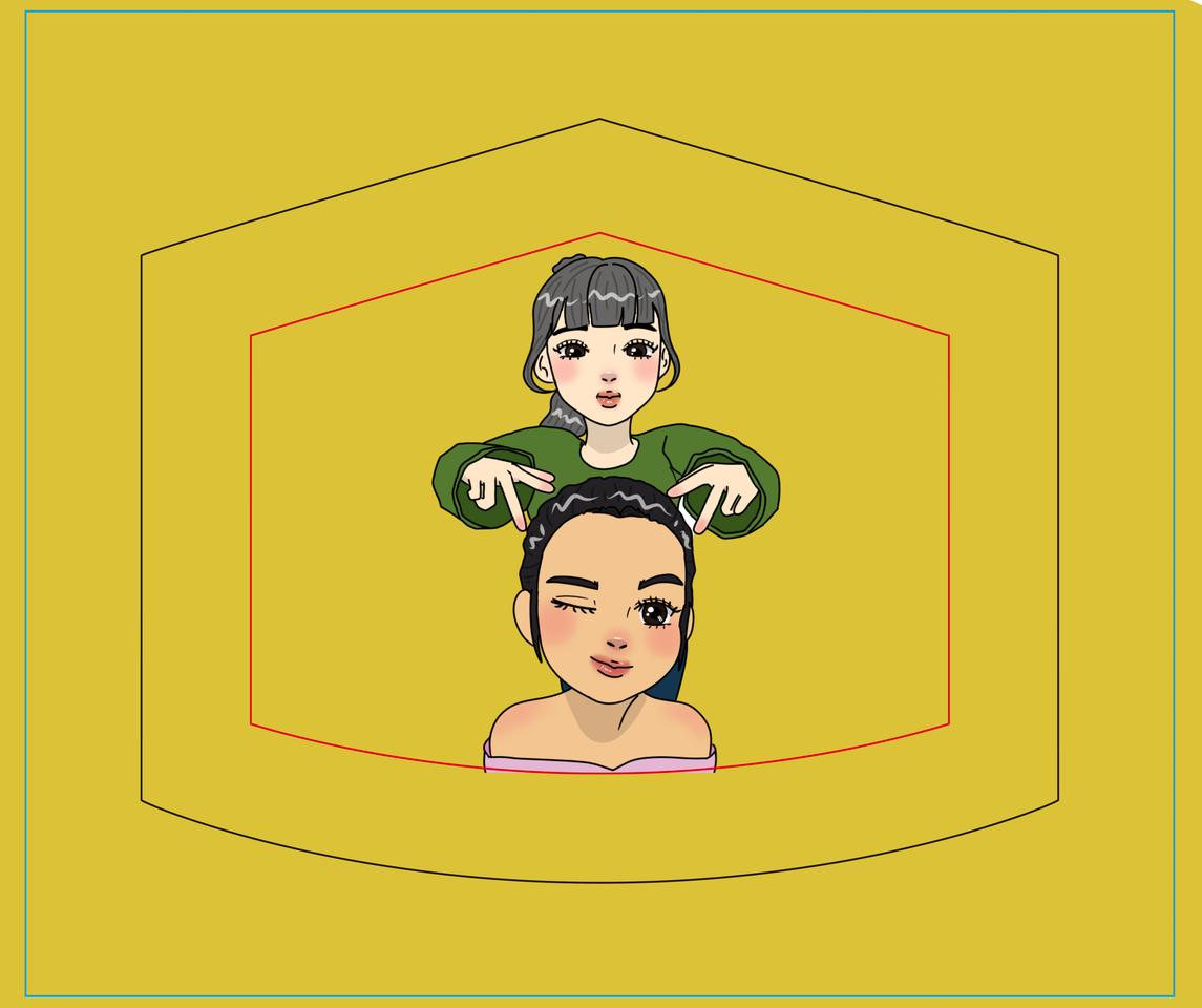 My Own Mask Design Illust of 🌜Mayari🌛 December2020_Contest:Santa MaskDesignContest tracedrawing4th medibangpaint illustration mask animegirl digitaldrawing anime animestyle design maskdesign