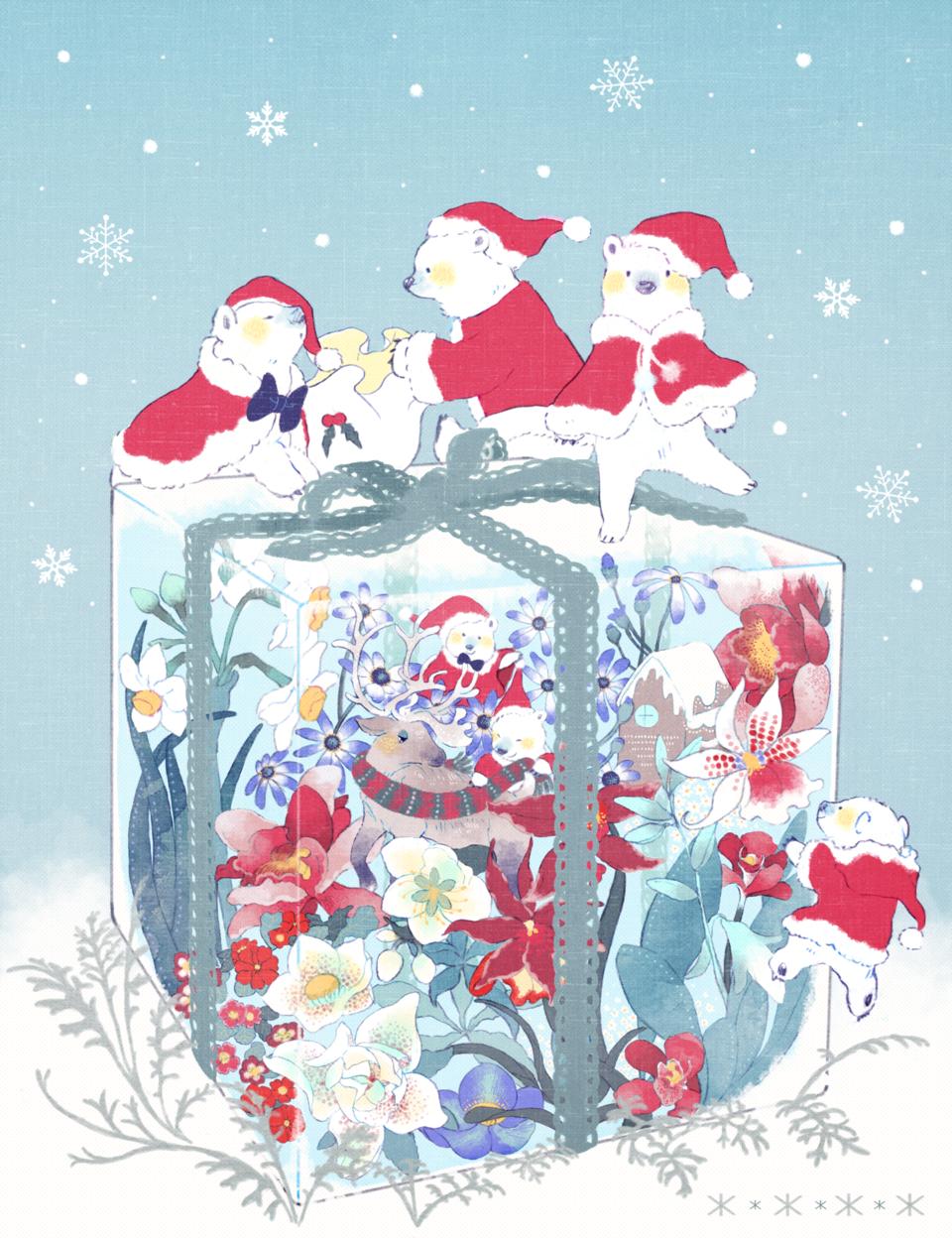 しろくまサンタ Illust of kita December2020_Contest:Santa