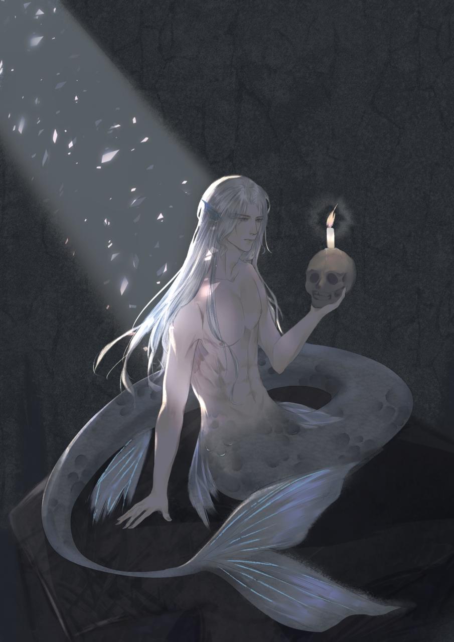鲛人 Illust of uni柒月是只鸽子精 medibangpaint