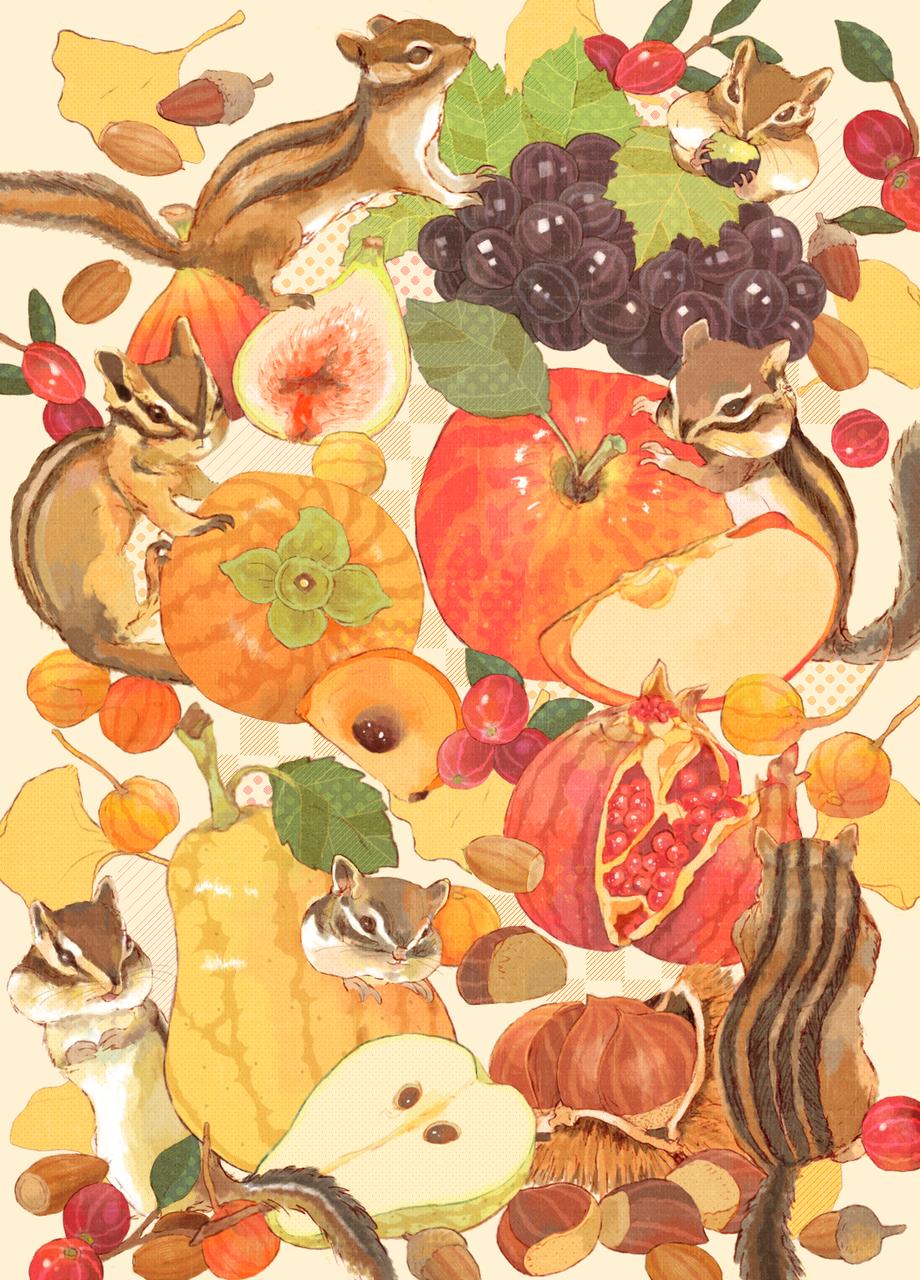 ShimaShima Illust of kita Sep.2019Contest シマリス animal autumn