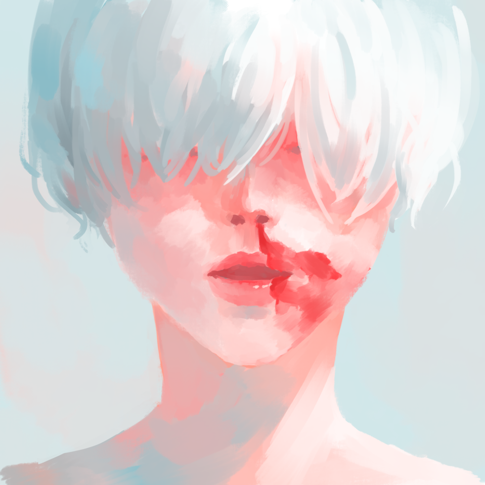 nosebleed Illust of 椪緯/はる(Hume) Original_Illustration_Contest 中性的 original 鼻血