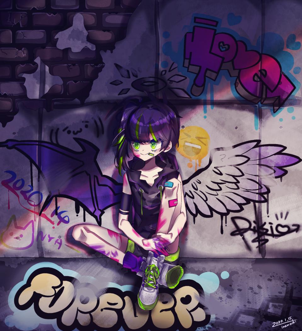 ストリートアート Illust of 停止 oc girl グラフィティ original