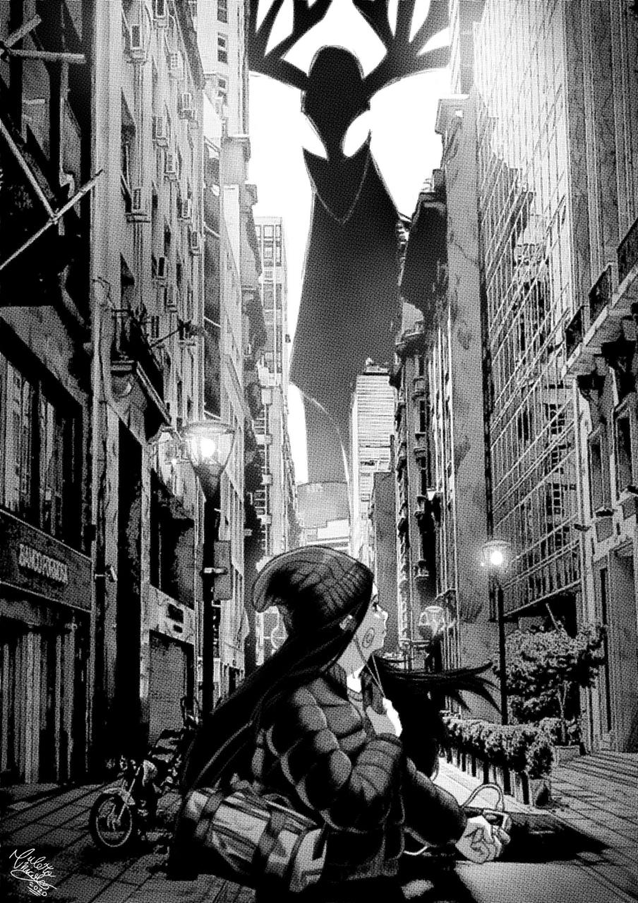 Tiempo en vigia Illust of Anawello August2020_Contest:Horror medibangpaint