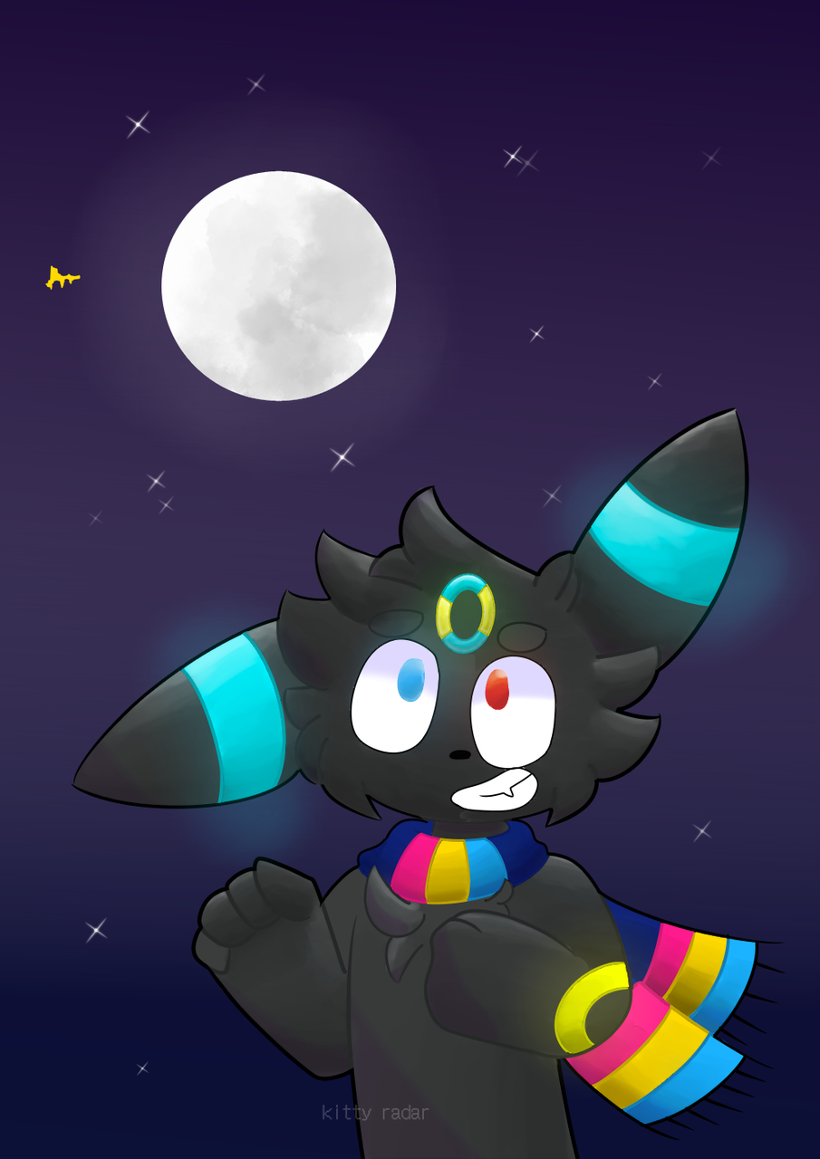 requested by PKN-133  Illust of kitty radar medibangpaint oc request jaketheumbreon pokemon furry