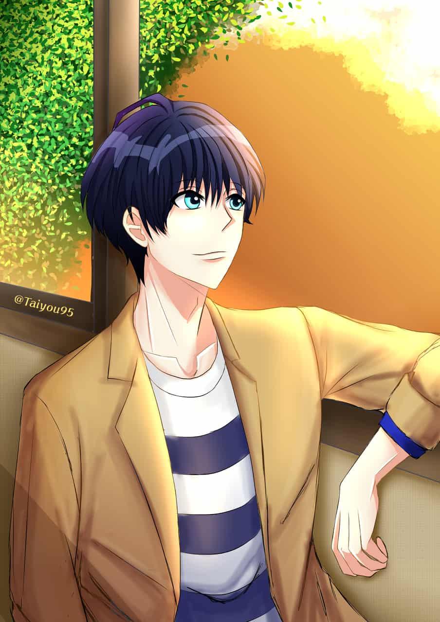 Tsumugi 夕日を見て ~ Illust of taiyou95 ARTstreet_Ranking Tsumugi medibang a3game 月岡紬 A3! sunset Tsumugi_tsukioka エースリー