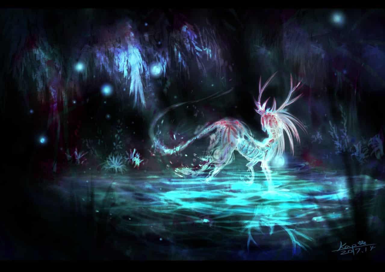 影世界:永夜森林 Illust of KapCat 幻想生物 nature 影世界 奇幻