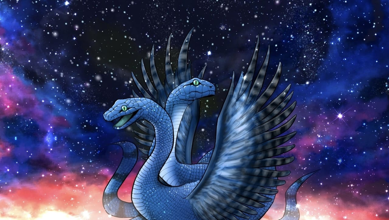 疫病除けの神様(オリジナル) Illust of ぽぽうどん monster 神様 snake original