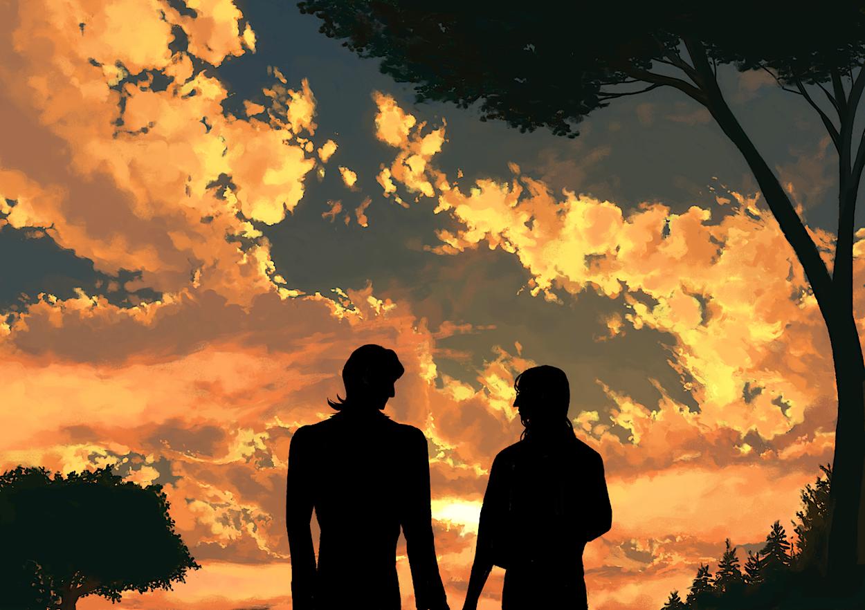 quiet Illust of Pai oc sky background original