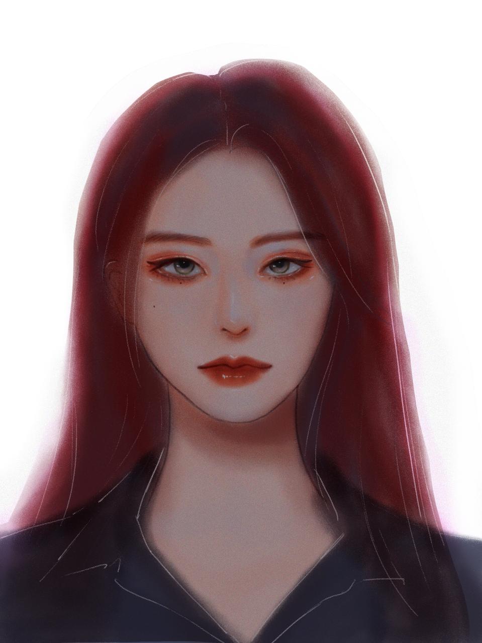Red Hair Illust of Jiayi MyIdealWaifu August2020_Contest:Horror MyIdealWaifu_MyIdealHusbandoContest angry