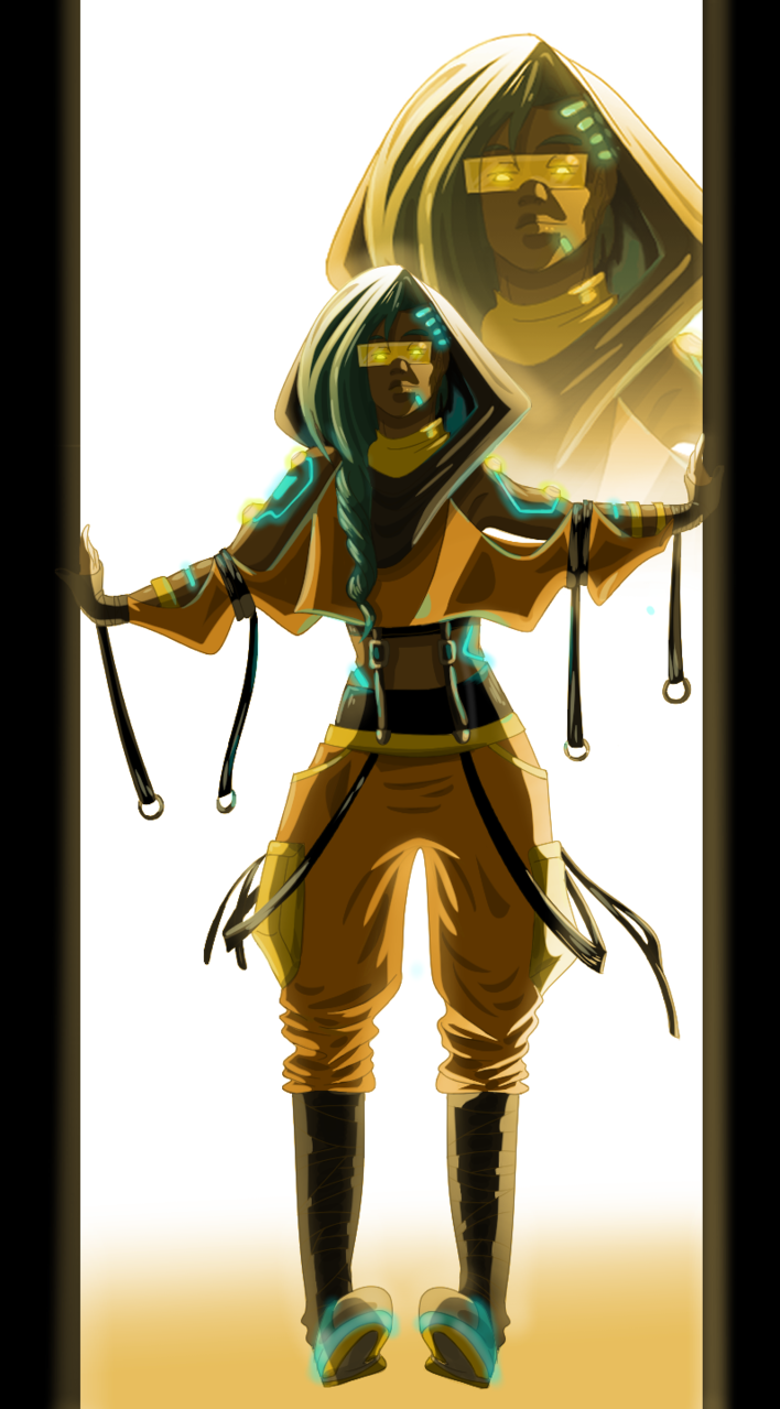 CyberSandy Illust of DANNARTWORK January2021_Contest:OC character Oc's drawing ilustration cyberpunk original illustration personaje cyborg oc