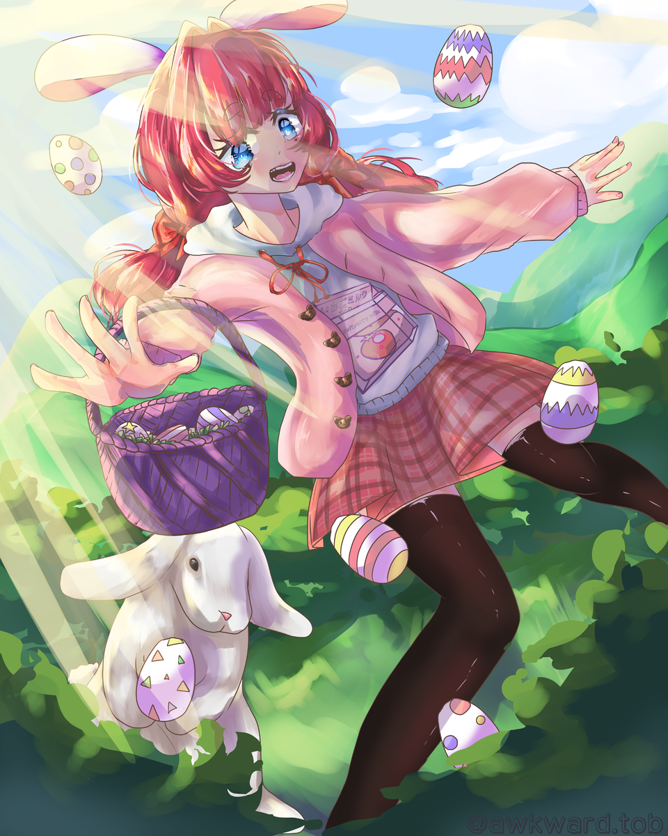 Easter Saoko Illust of AwkwardTobi March.2020Contest:Easter oc girl myoc art MyArt