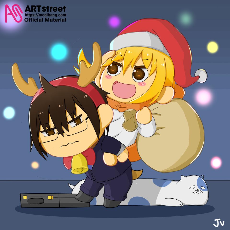 Himouto Holiday Illust of ThisIsJv tracedrawing4th Christmas kawaii anime Trace&Draw【Official】 Himouto!Umaru-chan chibi