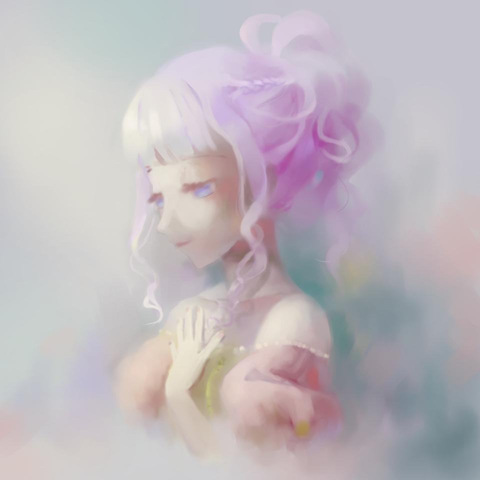 Vestiges of Spring Illust of Pink.Crystal110 medibangpaint digital painting Experiment