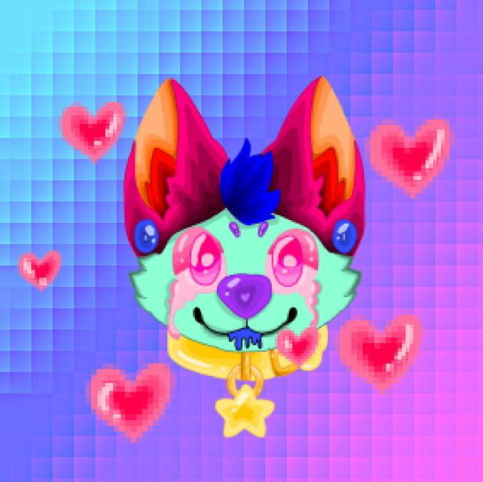 Furry Art Illust of 🌙🍩🍪Creative Bakery🍪🍩🌙 purple blue uwu :v pink ibispaint