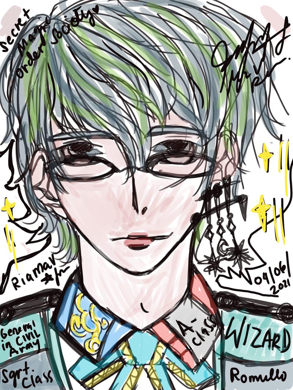 1. Secret Magic society Illust of RiaMAV MySecretSocietyContest