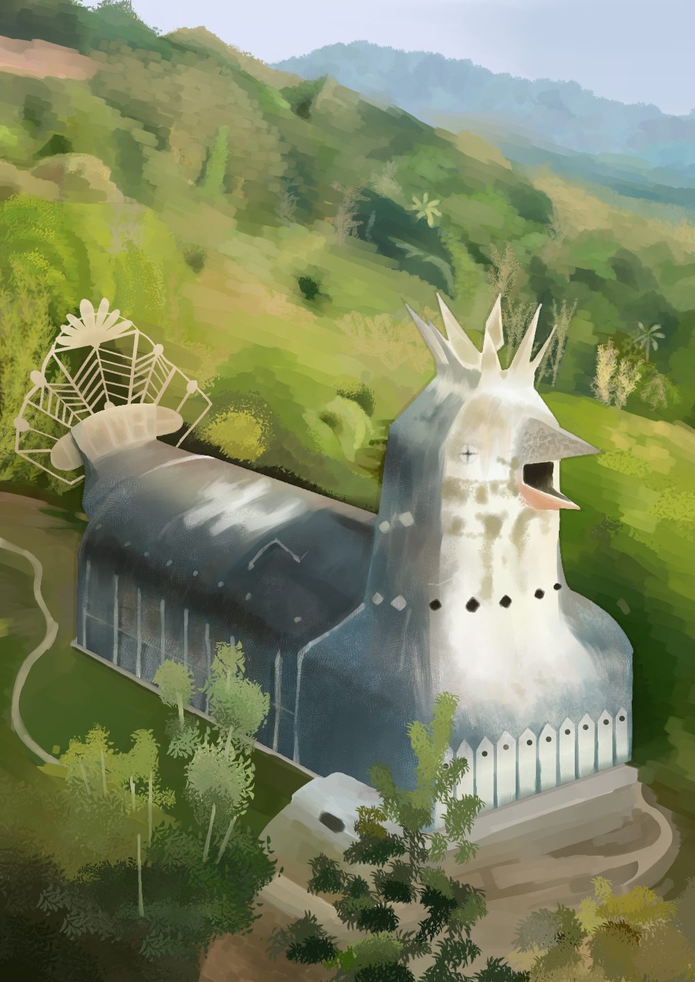Buildings / chicken church/Blep