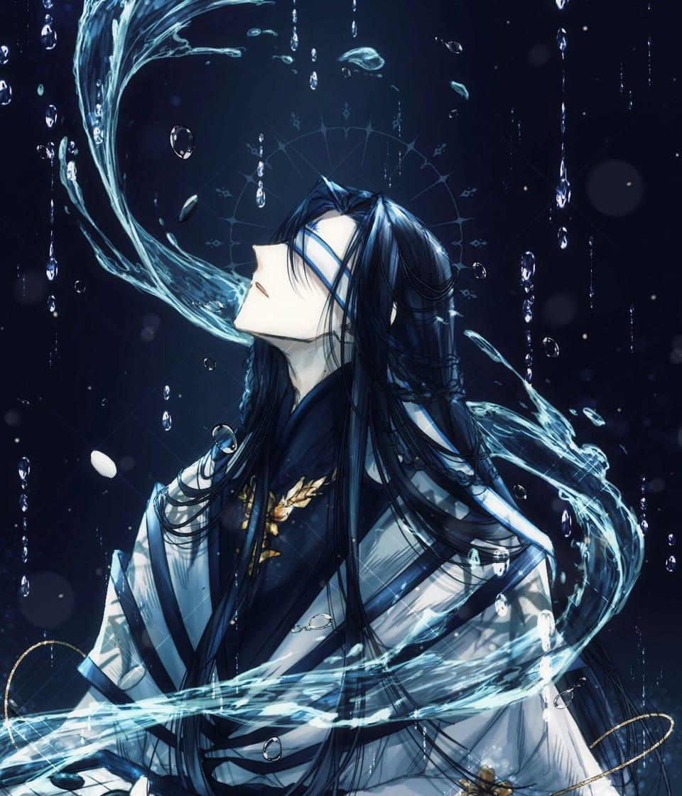 对奔山河 Illust of myk のえるのお絵かき blue 食物語 illustration 楚夷花糕