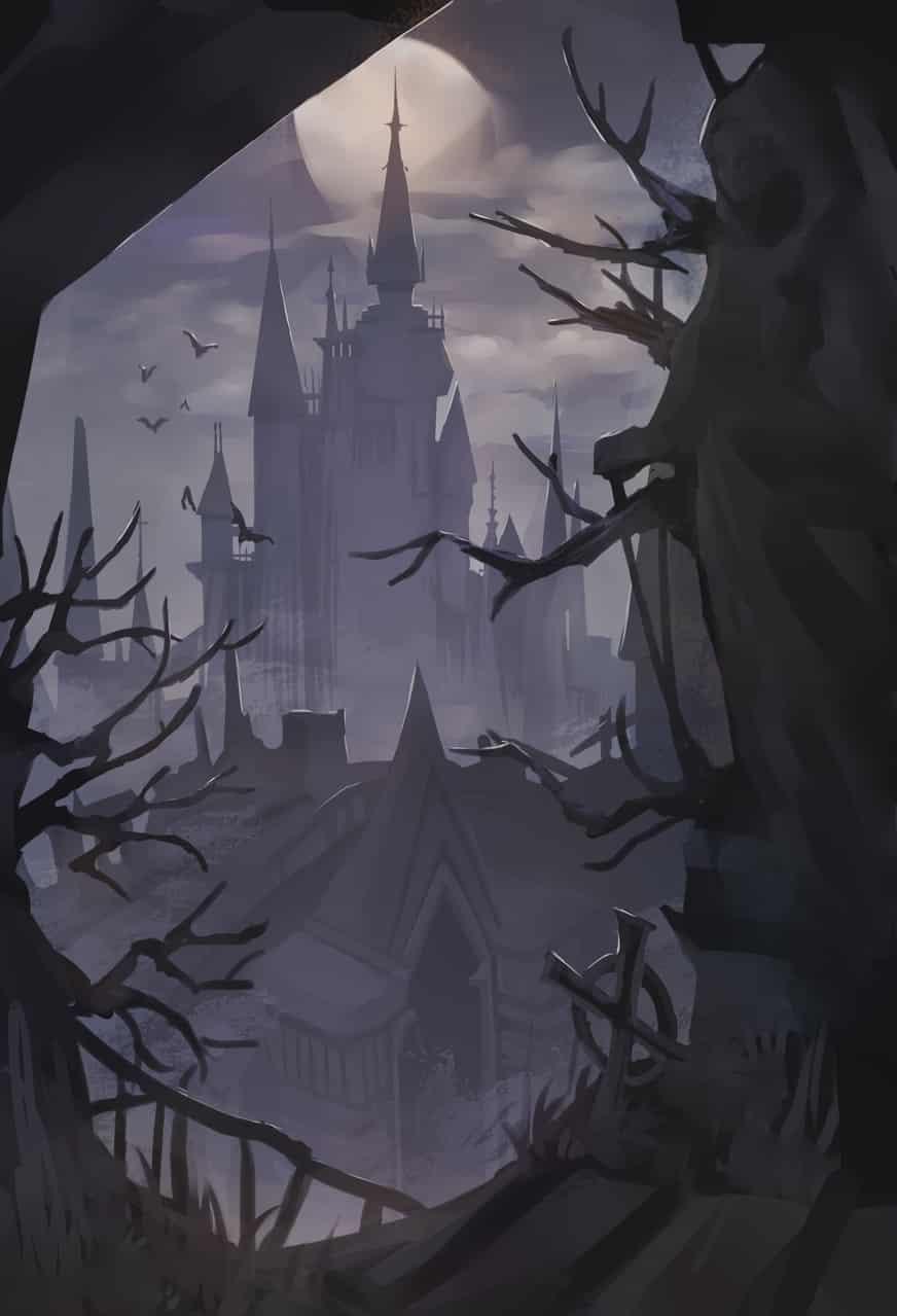 吸血鬼城堡 Illust of 時椏Arsha fantasy background 城堡 castle original 城