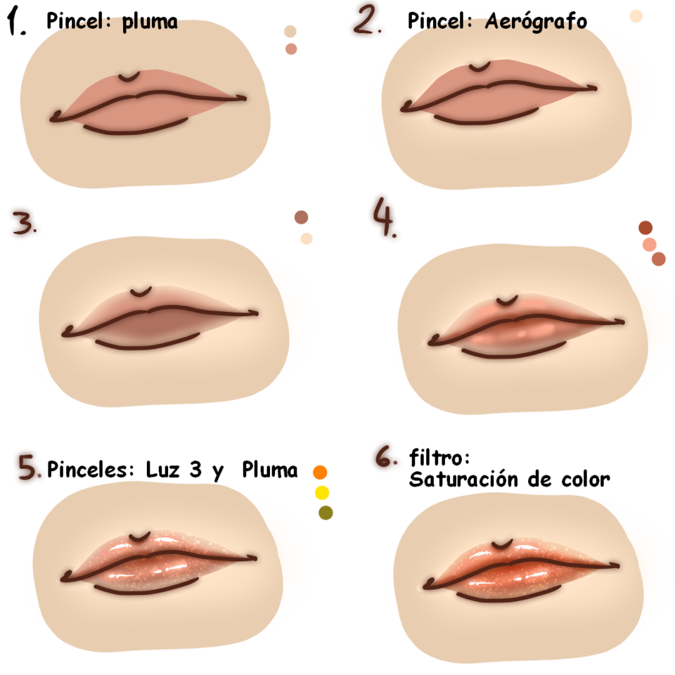 Cómo colorear labios [Tutorial] Illust of MargaV The_Challengers color tutorial tutorials coloring digital lips